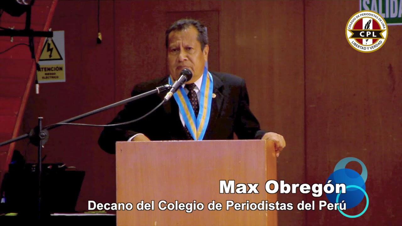 Max Obregón - decano del colegio de periodistas del Perú
