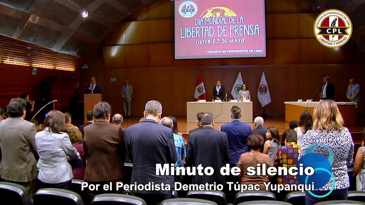 Minuto de silencio por el periodista Demetrio Túpac Yupanqui