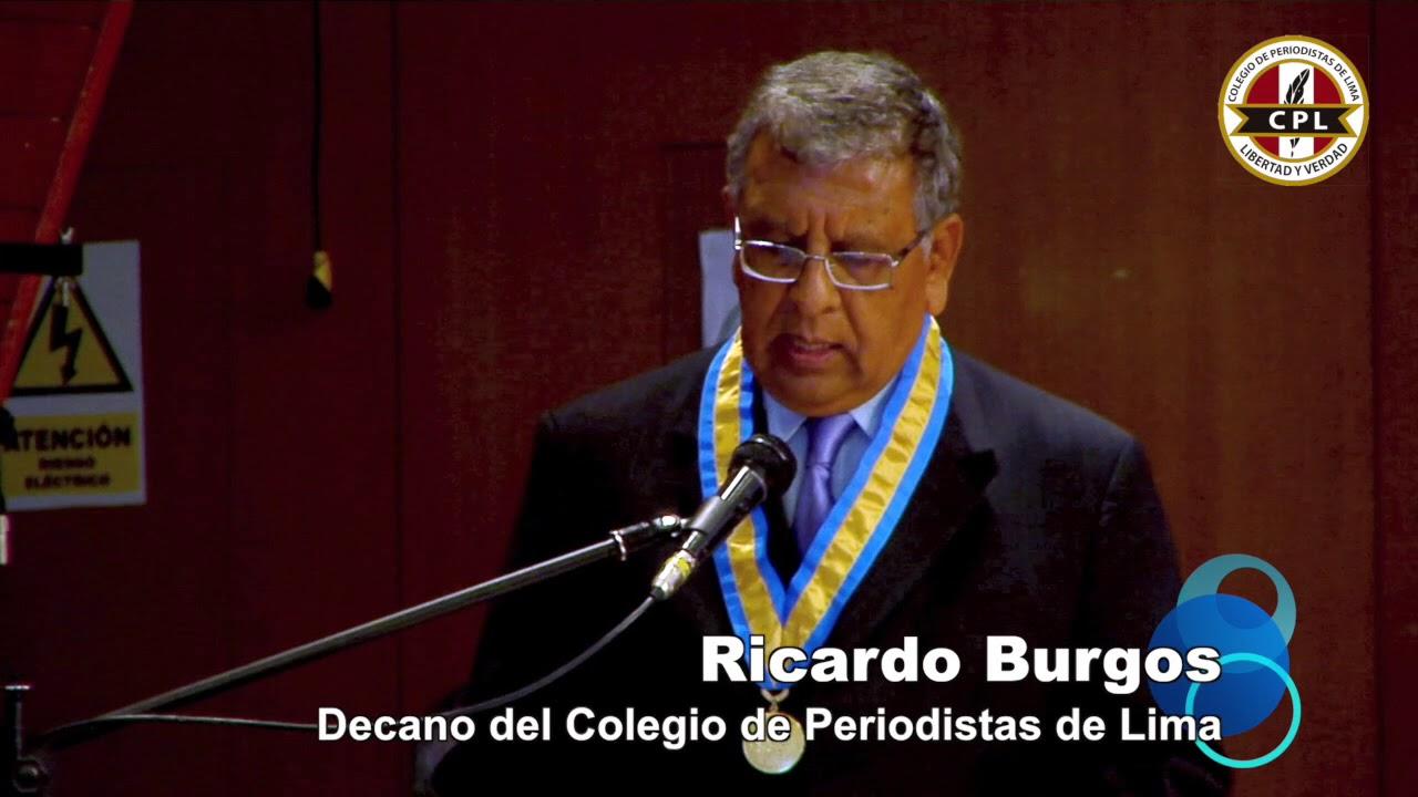 Ricardo Burgos - decano del colegio de periodistas de lima